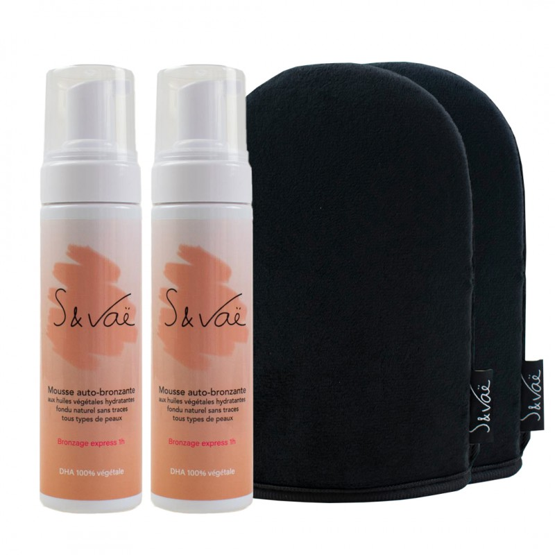 Kit de bronzage duo